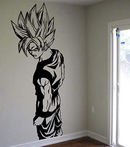 Gwill Vinilo adhesivo para pared de Super Saiyan Goku, diseño de bola de dragón