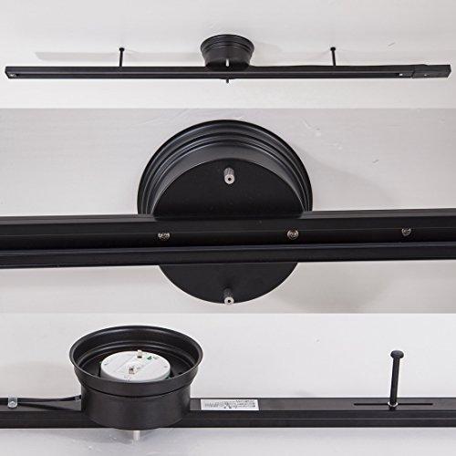 Akarilight照明器具天井照明おしゃれスポットライトダクトレールレール照明配線ダクトレール簡易取付式一般家庭対応ライティングダクトレールライティングレールライティングバー角度調整可能引掛けプラグプラグ3個付き(ダクトレール100cm+プラグx3,ブラック)