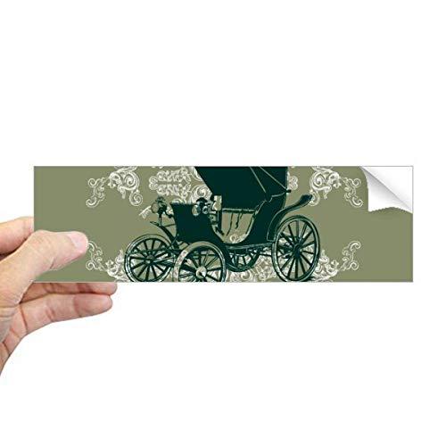 DIYthinker donker groen klassieke auto's bloem patroon rechthoek bumper sticker Notebook venster sticker