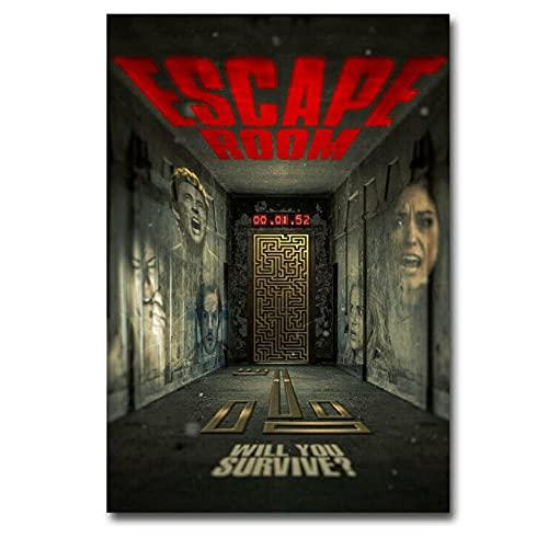 MRBIGWEI Escape Classic Movie Print en Lienzo Art Poster PicturesLiving Room Pictures Decoración del hogar 50x75cm -20x30 IN Sin Marco