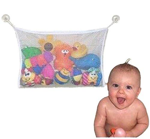 weimay babay Bath Toy Organizer avec Lot de 2 ventouses forte Accessoires de douche Crochet de rangement Sac