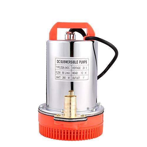 SHYLIYU Tauchwasserpumpe 24V DC 260W Solarbetriebene Pumpen, geeignet zum Pumpen von sauberem/Schmutzwasser, Schwimmbädern, überfluteten Kellern