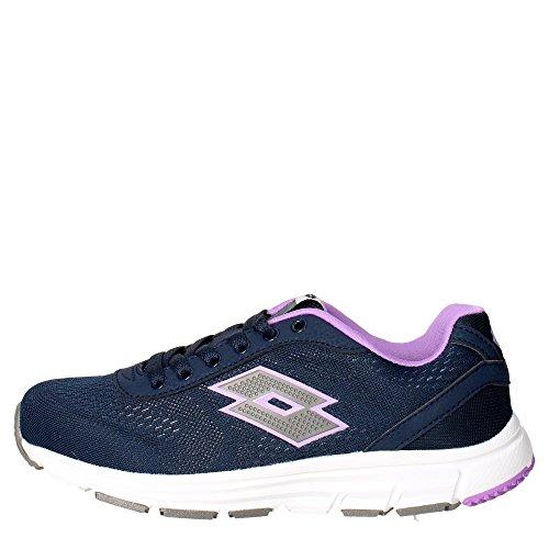 Lotto Gliderun W, Zapatillas de Running Mujer, Azul / Gris (Blu Avi / Tit Gry), 36 EU
