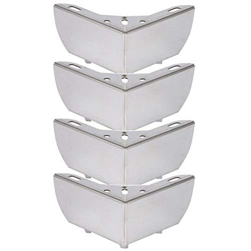 4X meubelpoten, tafelpoten van metaal, hol gesneden design, verchroomd, hoog/55 mm, geschikt voor tv-kast, salontafel, sofa, kastbed (B)