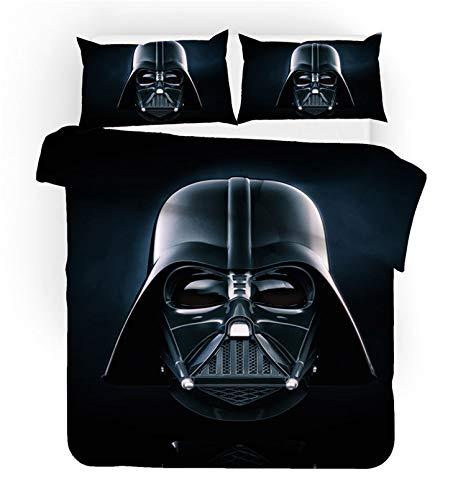 BATTE Star Wars - Set copripiumino per letto singolo, matrimoniale, king size, stampa digitale 3D, copripiumino e federa per cuscino, 3 pezzi (02,135 x 200 cm)