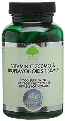 G&G Vitamins 750 mg Vitamin C and 150 mg Bioflavonoids Capsules by G&G Vitamins