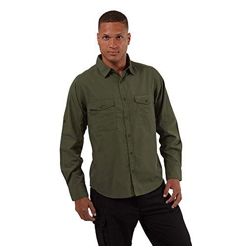 Craghoppers Mäns Kiwi Ls skjorta vandringströja Ceder S