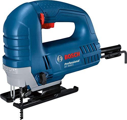 BOSCH 060158H000 - Sierra de calar GST 8000 E Professional. 710 W, Profundidad...