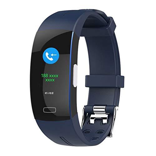 QKA Reloj Inteligente, ECG PPG Ritmo Cardíaco Y Monitoreo De La Presión Arterial Smartwatch, Medición De La Temperatura Corporal Smart Strap Men's Y Mujeres,A