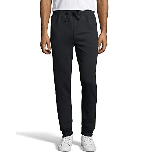 Hanes Men's Jogger Sweatpant with Pockets, Black, Medium