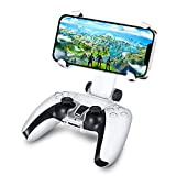 TNP PS5 Controller Phone Clip Holder Clamp Mount Adjustable Bracket for Sony Playstation 5 PS5 Dual Shock Wireless Controller for iPhone 12 Pro, 12 Pro Max, 11, Xs, Xs Max, X, 8 Plus, 8, 7