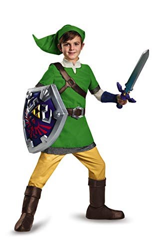 Deluxe Link Kids Costume - Large, Green, Size L (10-12)