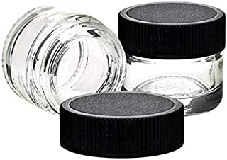 72 Pack - Glass Concentrate Jars - Air Tight and Smell Proof