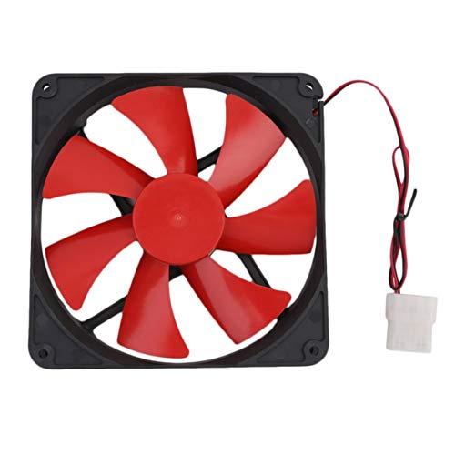 Timetided Ventilador de enfriamiento de computadora de PC Universal de 140MM Ventilador de enfriamiento de Caja de computadora de PC