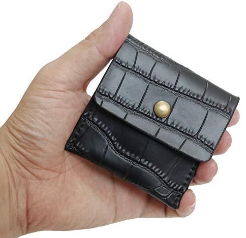 携帯灰皿 吸い殻入れ Ash Tray ソフトレザー PU 革 レザー ポケット 手のひらサイズ コンパクト ポータブル エチケット アッシュトレイ (BLACK)