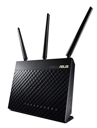 Asus AC1900 Dual Band Gigabit WiFi Router with MU-Mimo, Aimesh for Mesh WIFI System, Aiprotection Network Security Powered by Trend Micro, Adaptive Qos and Parental Control (RT-AC68U)