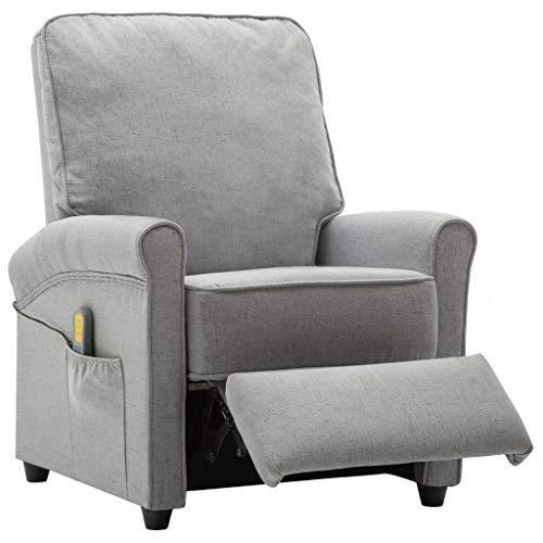 Tidyard Elektrischer Massagesessel Stuhl Mit 5 Massage-Modi 8 Massage-Punkten in 3 Intensitätsstufen & Wärmefunktion,Liegestuhl Relaxsessel Fernsehsessel Massagestühle,Stoff+Sperrholz+Stahlrahmen