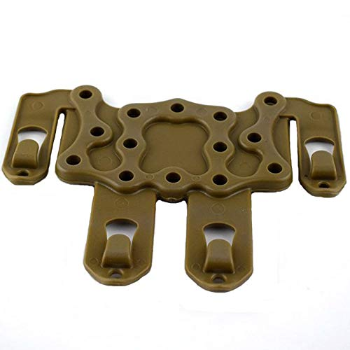 NO LOGO X-Baofu, For Glock 17 19 22 23 31 32 Airsoft Cinturón de Pistola Cintura Pistolera Funda Pistolera Estuche de Transporte + Molle Platform Adaptador táctico de Funda (Color : Silver Color)