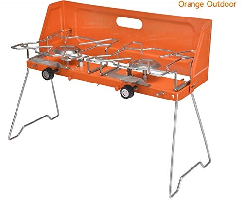 QEDS Barbecue Grill Protable Gasherd, Gasherd im Freien, Gasgrill. Doppelbrenner Grill