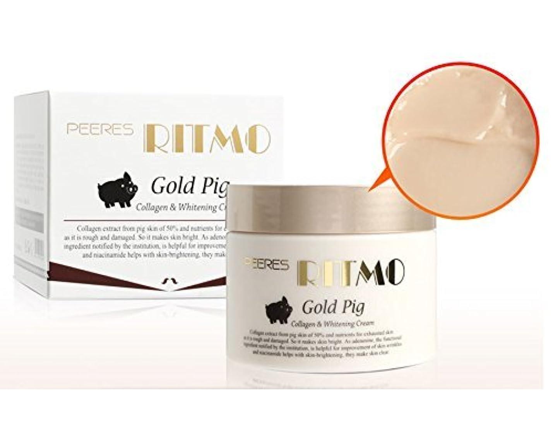 略語バック迷惑[Ritmo] ゴールドピッグコラーゲン&ホワイトニングデュアルファンクショナリティクリーム100ml /肌の改善、弾力、水和/コラーゲン / Gold Pig Collagen & Whitening Dual Functionality Cream 100ml / Skin improvement, elasticity, hydrated / Collagen intensively / 韓国化粧品 / Korean Cosmetics [並行輸入品]
