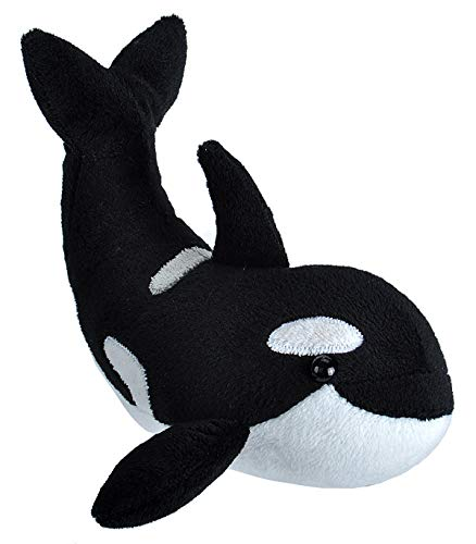 Wild Republic Wild Calls Orca, Authentic Animal Sound, Stuffed Animal, Eight Inches, Gift for Kids, Plush Toy, Fill is Spun Recycled Water Bottles