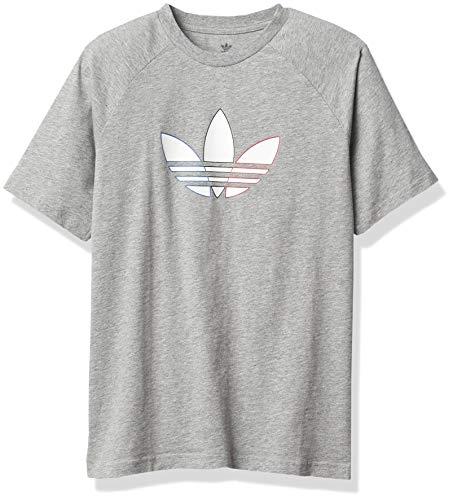 adidas Originals,unisex-youth,Tee,Medium Grey Heather,X-Large