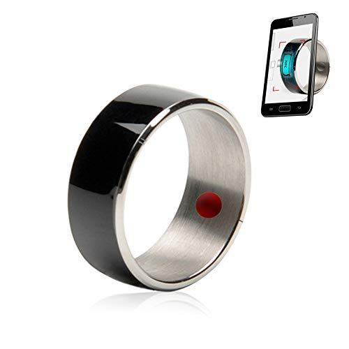 UPANV Anillo Multifuncional Inteligente NFC para Teléfonos Android Y Windows, Regalo De Adorno para Teléfono Móvil De Seguimiento De Salud De Alta Tecnología,Negro,8