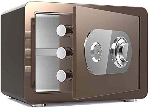 DGHJK Cajas Fuertes a Prueba de Agua para el hogar Contraseña electrónica Caja Fuerte para el hogar Armario para Llaves Doble a Prueba de Fuego 35 25 25cm Caja Fuerte (Color: Negro)