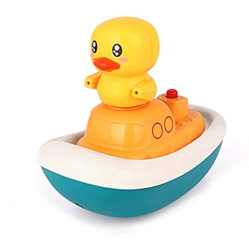 Juguetes de baño, juguetes de agua para niños, juguetes de piscina para bebés, pato en bote, para niños pequeños, bebés, niños pequeños, bañera, baño, ducha, lavabo