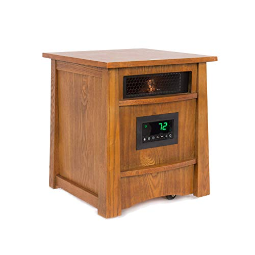 Lifesmart Corp Lifelux Series Ultimate 8 Element Extra Large Room Infrared Deluxe Wood Cabinet & Remote