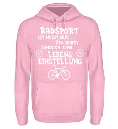 Shirtee Fahrrad Bike Cycling Radsport Leben - Unisex Kapuzenpullover Hoodie