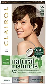 Clairol Natural Instincts Hair Color, Medium Cool Brown [5A] 1 ea ( Pack of 2)