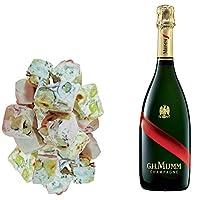 assortimento champagne mumm - gran cordon e 150g di torroncini alla nocciola - jonquier deux frères