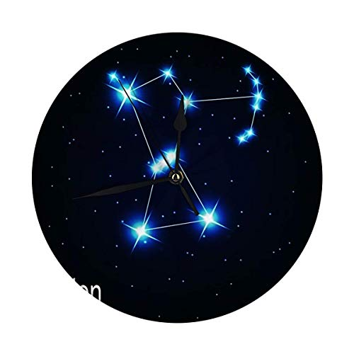 Butty Moderne Wanduhr groß Die Sternbild Orion Stern im Nachthimmel Runde Küchenuhr