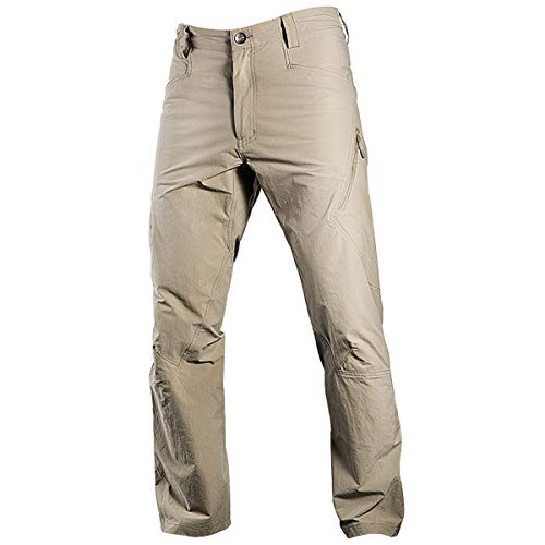 FREE SOLDIER Men's Outdoor Quick Drying Tactical Pants Summer Breathable Stretch Cargo Trousers Lightweight Hiking Fishing Sun Pants (Mud Color, 38W)