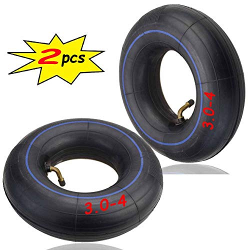 3.00-4 Inner Tube(2PCS) for Razor E300 Scooter, Pocket Rocket, Utility Dolly, Hand Truck 3.00 x 4 Angle Valve Tube, Razor E300 - PREMIUM Heavy Duty 260x85 Replacement Mobility Scooter Tire Tube
