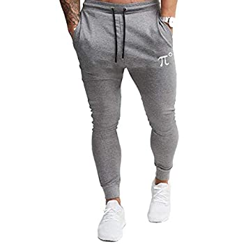 PIDOGYM Men s Slim Jogger Pants,Tapered Sweatpants for Training Running,Workout with Elastic Bottom Grey