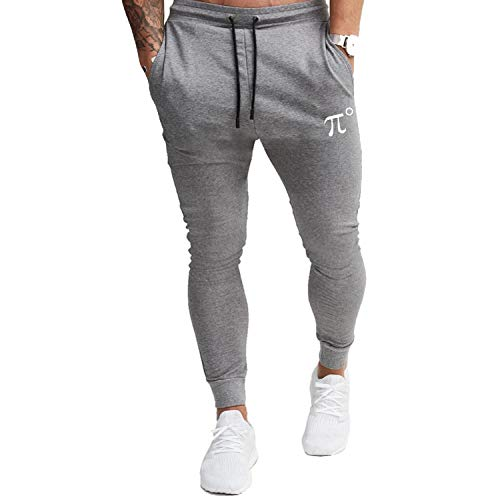 PIDOGYM Men's Slim Jogger Pants,Tapered Sweatpants for Training, Running,Workout with Elastic Bottom,Grey,XX-Large
