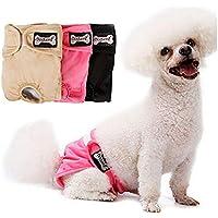 Doglemi - Pañales reutilizables para perros hembra, bragas fisiológicas de alta absorción para perros pequeños y medianos