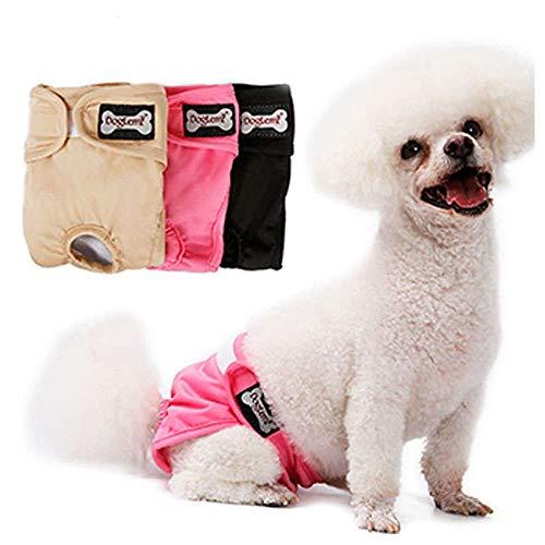 Doglemi Windeln für weibliche Hunde, wiederverwendbar, physiologische Hose, Hygiene Hose, hohe Saugkraft, für kleine, mittelgroße Hunde