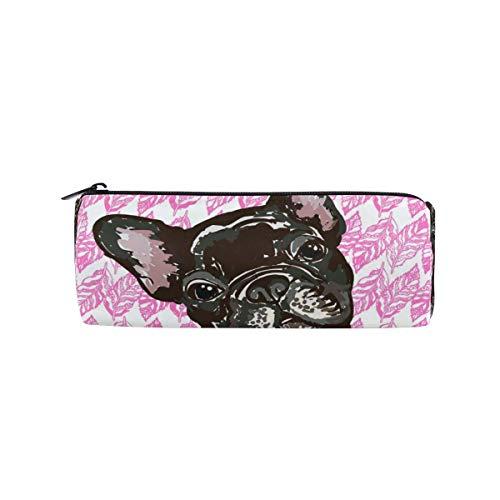 Federmäppchen, Motiv: Französische Bulldogge, Federmäppchen für Schule und Büro, Kosmetiktasche für Damen