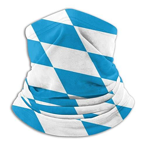 Jessicaie Shop Bavaria Flag Square Blue Neck Gaiter Winddichter Gesichtsschal Staubdichter Hals Vielseitigkeit Half Face Schal Stirnband Muffelschal