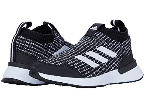 adidas unisex child Rapidarun Ll Running Shoe, Black/White/Black, 6.5 Big Kid US