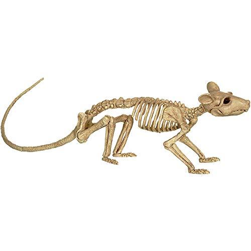 Hilai Dekoration Ratten-Skelett,Halloween Ratte Skelett Kunststoff-Tier-Skelett-Knochen Simulative Skeleton Dekoration für Horror Halloween Dekoration 30x6.5x9CM