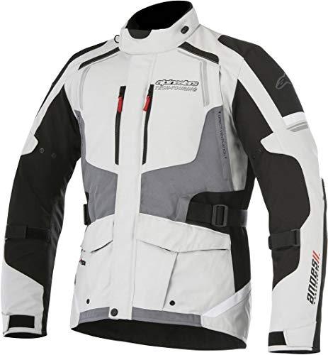 Alpinestars Motorradjacke ANDES V2 DRYSTAR Jacke hellgrau schwarz grau wasserdicht Größe L