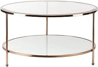 southern enterprises rambix round coffee table gold
