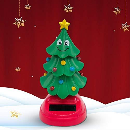 knowledgi Árbol de Navidad con energía solar, diseño de Papá Noel
