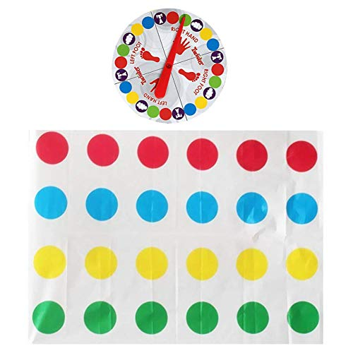 SpringPear® 110 x 160 cm Juegos de Suelo Divertido Tapete para Twister Game Familia Amigo Partido Deportes Los Niños Juegan a Partir de 6 Años.