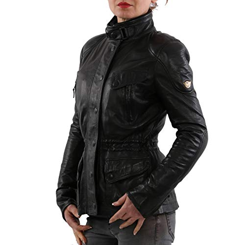Matchless Damen Leder Jacke Notting Hill Black 123004 ((42) S)
