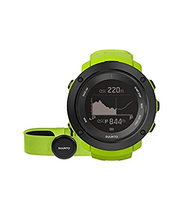 SUUNTO, AMBIT3 VERTICAL HR, Unisex Multisport GPS Watch, 15 Hr. Battery Life, Heart Rate Monitor + Chest Strap (Size: M), Waterproof up to 100 m, Lime, SS021970000